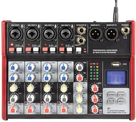 Citronic CSM-6 Compact Mixer With USB / Bluetooth